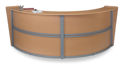 ALL LAM MARQUE ROUND RECEPTION DESK MAPLE