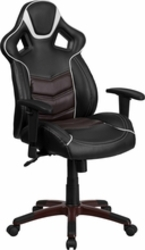 Maroon executive swivel chair