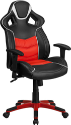 Red executive swivel chair