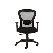 Office  chair, with mesh back and seat depth adjustment, Black.