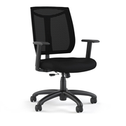 CHAIR,TASK, ERGONOMIC, BLACK MESH BACK,FABRIC SEAT