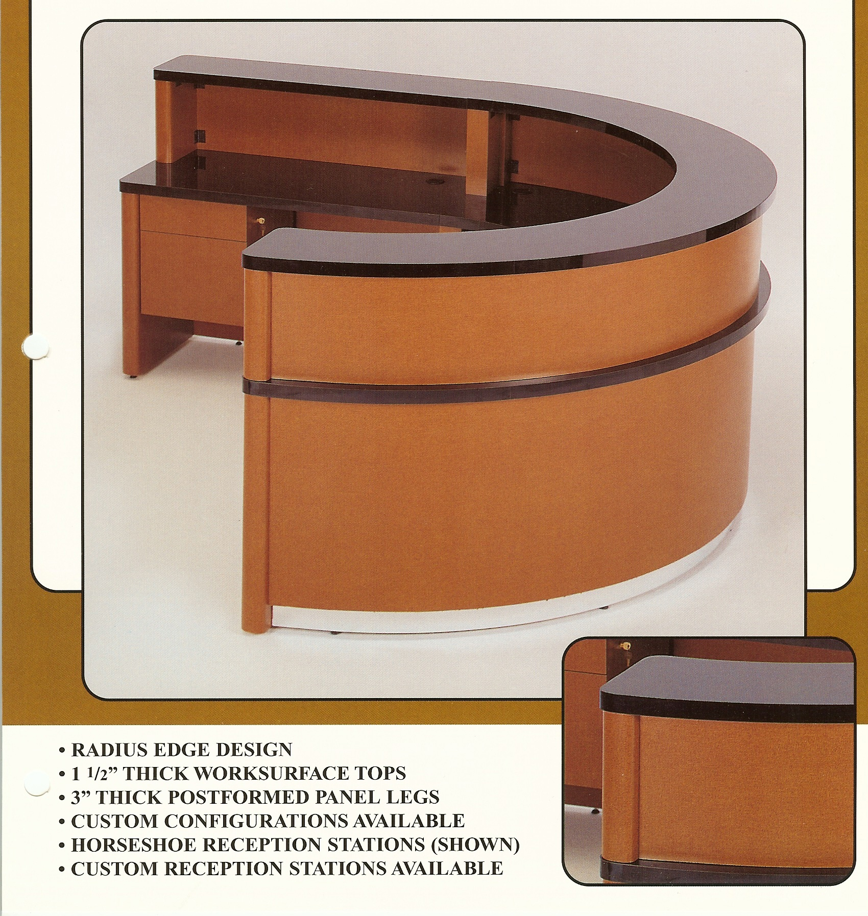 HORSESHOE RECEPTION DESK LAMINATE Indoff Reception